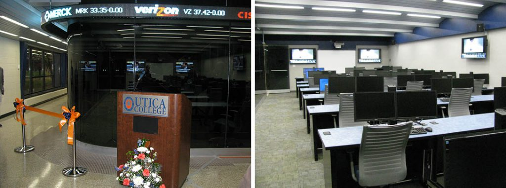 First Source Utica College Trading Room