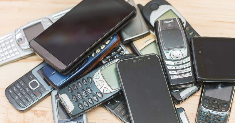 Gently used cell phones for donation.