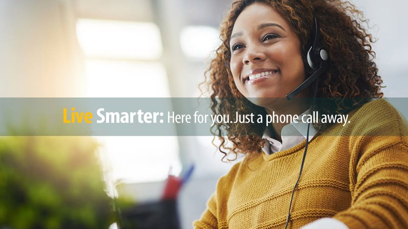 Member Care Call Center representative answers a Member question on the phone